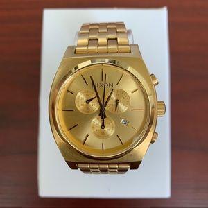 Nixon Time Teller Chrono All Gold Watch